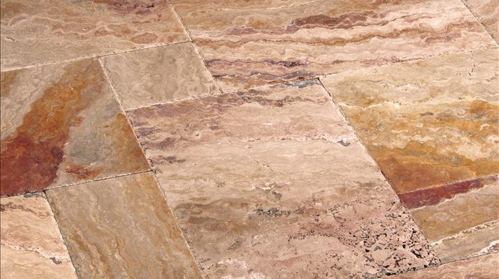 Give Your Home a Naturally Rustic Look with Chiseled Travertine Tiles